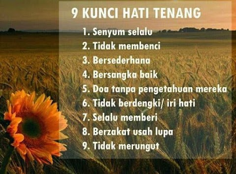 9 Kunci Hati Tenang