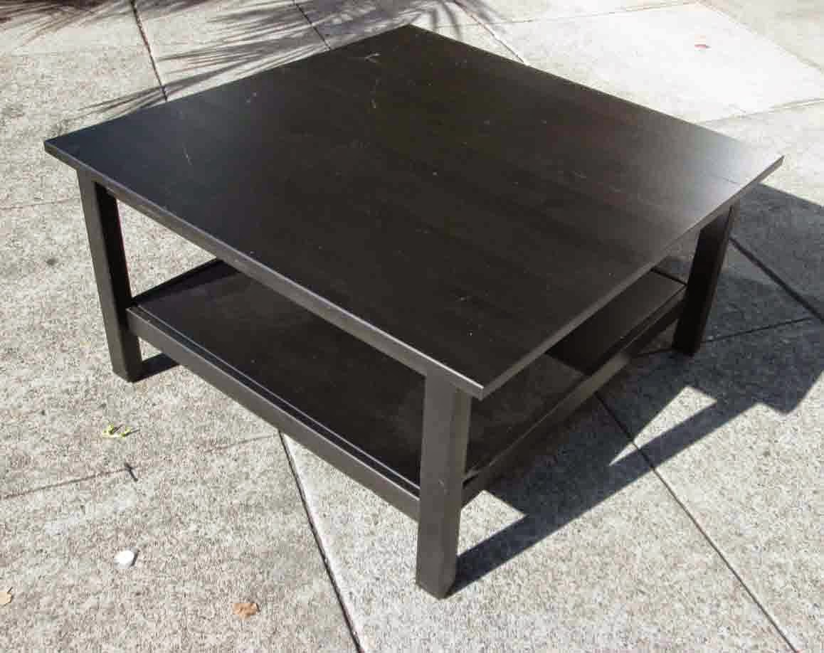 UHURU FURNITURE & COLLECTIBLES: SOLD Black Ikea Coffee ...