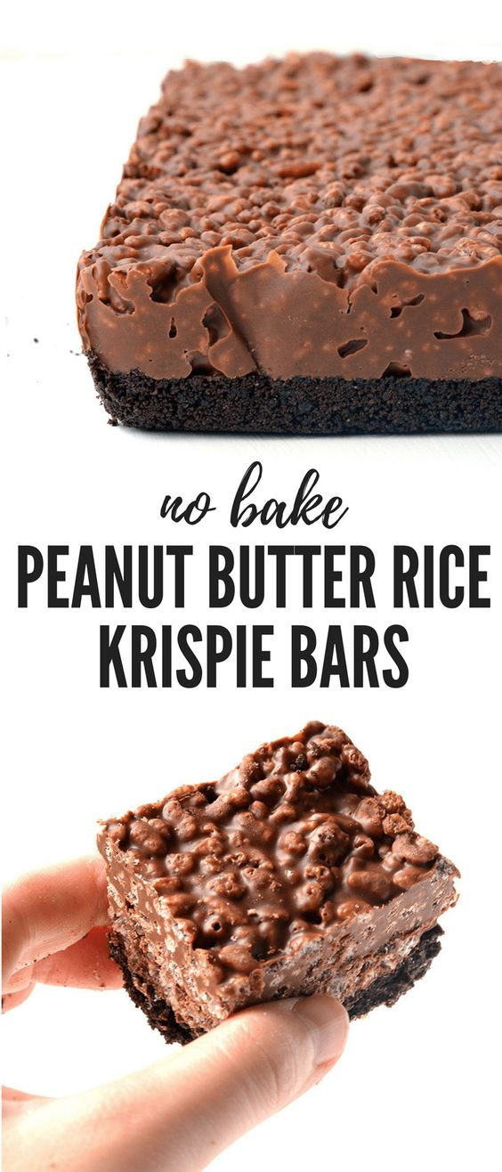 Peanut Butter Rice Krispie Bars Recipe