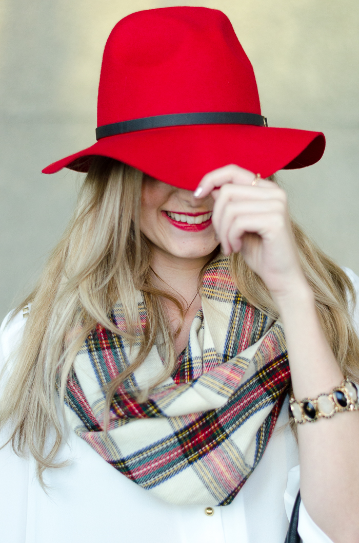 How to Style a Red Felt Hat