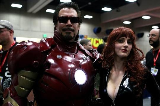 iron man with black widow cosplay
