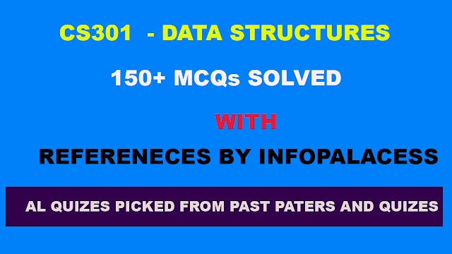 CS301 150+ Solved MCQs with References CS301 Quiz 1 Spring 2019