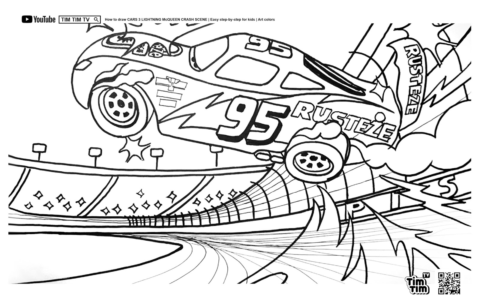 TIM TV Coloring Page