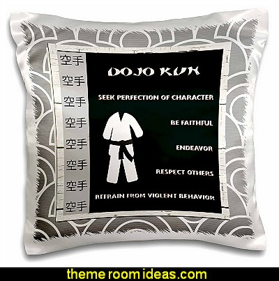 Japanese Martial Arts, Karate Rules, Black Belt  throw pillows
