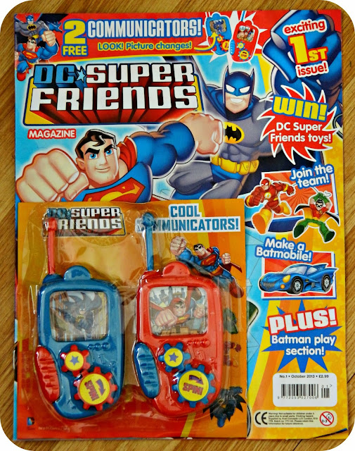 Issue One of DC Super Friends Magazine Comic Batman Superman Green Lantern Flash