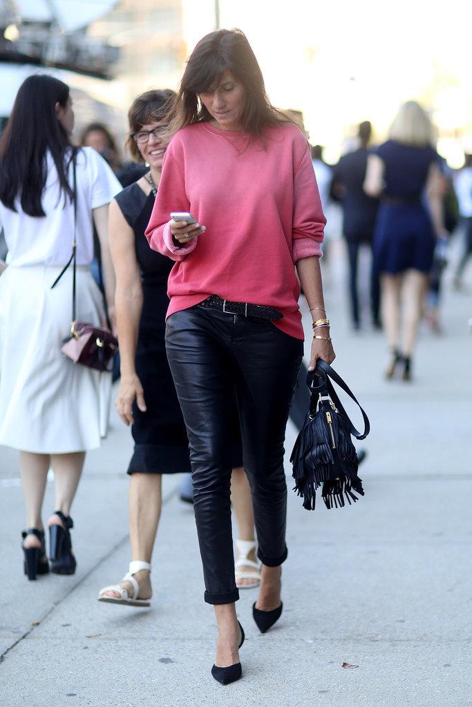 Emmanuelle Alt - NYFW Street Style