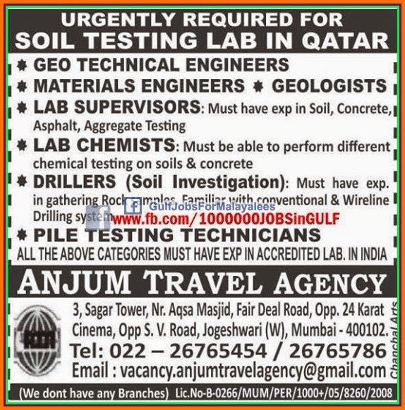 Free Recruitment For Latest Gulf Job Vacancies: Facility Management