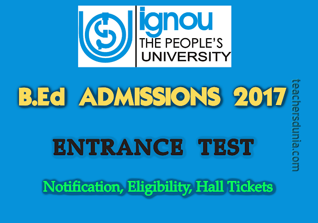 IGNOU-BEd-Admission-Notification-2017