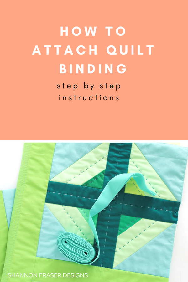 How to attach quilt binding to your quilt | Quilt Binding Tutorial - Part 1 | Step by step instructions to create and attach your own quilt binding | Shannon Fraser Designs #quilttutorial
