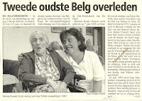 Barones Renée Duwelz overleed op 107-jarige leeftijd