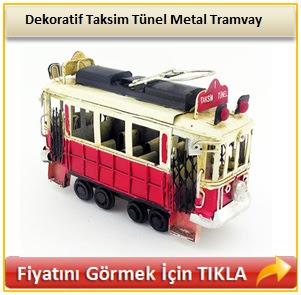 Dekoratif Taksim Tünel Metal Tramvay