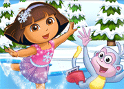 Dora Ice Skating Jigsaw