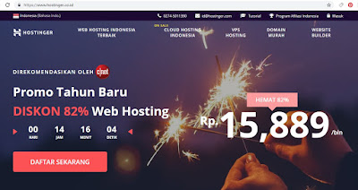 """beli domain di Hostinger"""