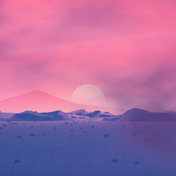 Vapor Wave Plateau Wallpaper Engine