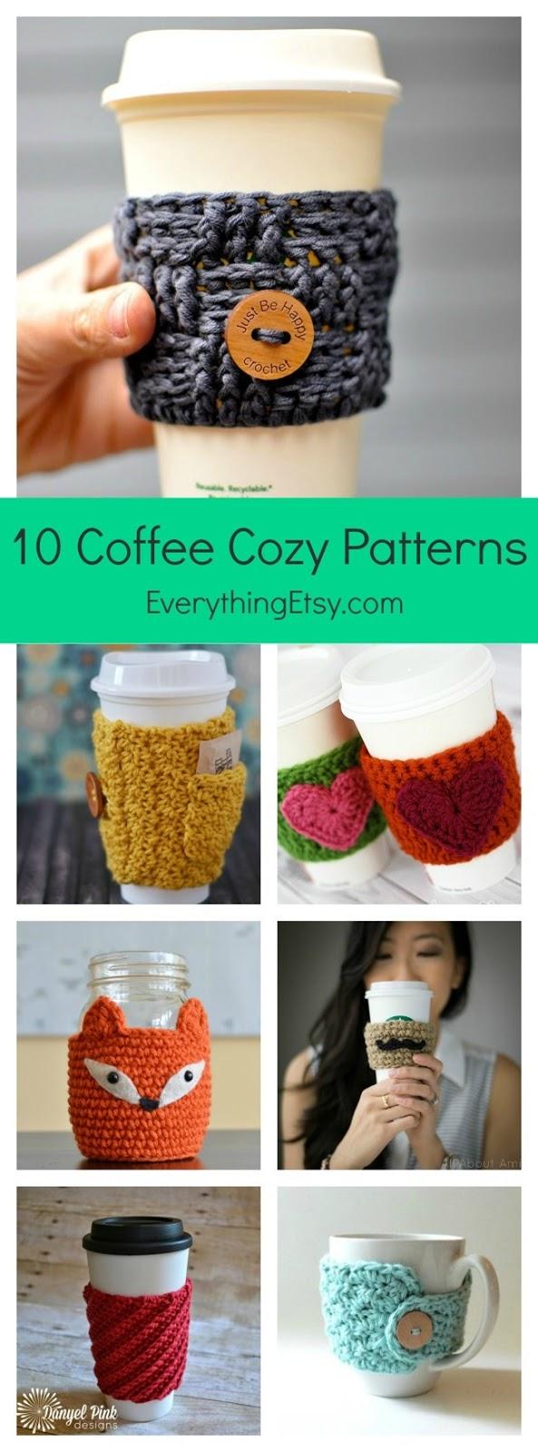 deversos tipos de capas para copos de café ou chocolate quente