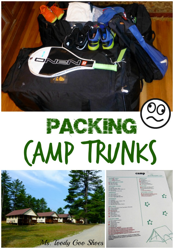 Packing Up Camp Trunks: : Oy, so much work I had to write a song about it!   -- Ms. Toody Goo Shoes