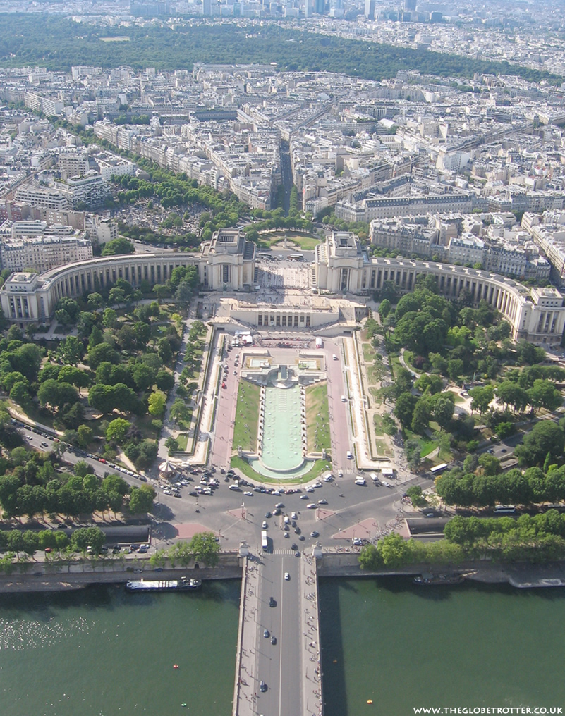 Views from the top of the Eiffel Tower Paris