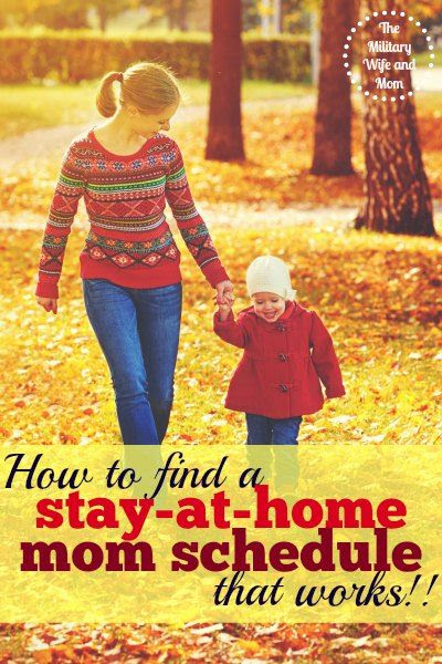 Why a Stay at Home Mom Schedule Matters