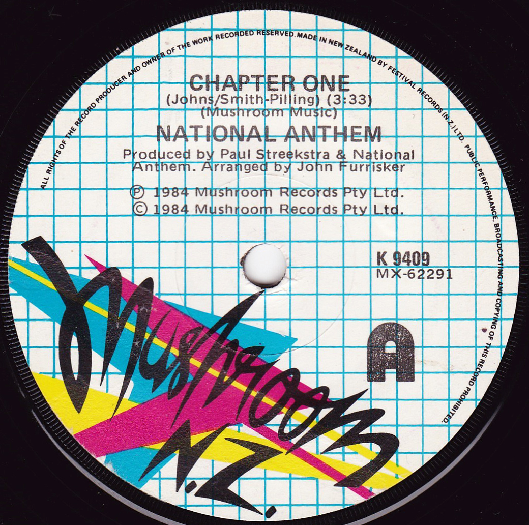 Forgotten New Zealand 45s: National Anthem - Chapter One 1984