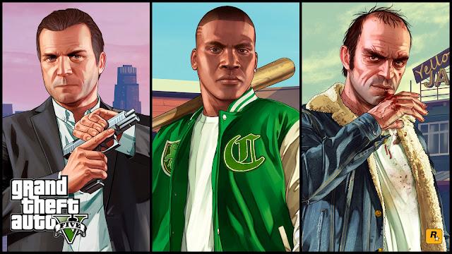 Von links: Michael, Franklin, Trevor