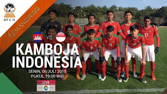 Prediksi Kamboja U-16 Vs Indonesia U-16, Senin 06 Agustus 2018 Pukul 19.00 WIB @ Indosiar