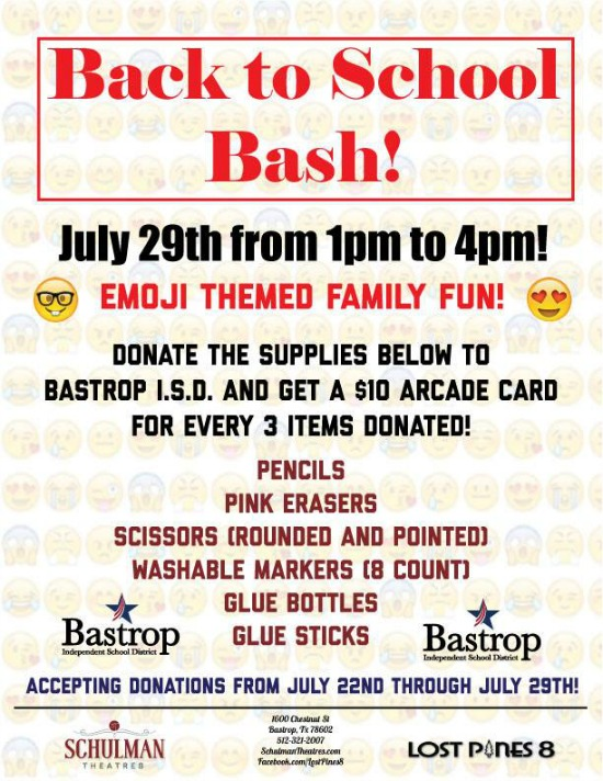 Enjoy Fun Games And Prizes Get A 10 Arcade Card When You Donate Select School Supplies Admission Is FREE