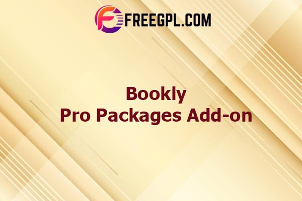 Bookly Pro Packages Add-on Nulled Download Free
