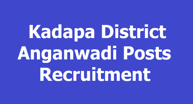 Kadapa District Anganwadi Posts