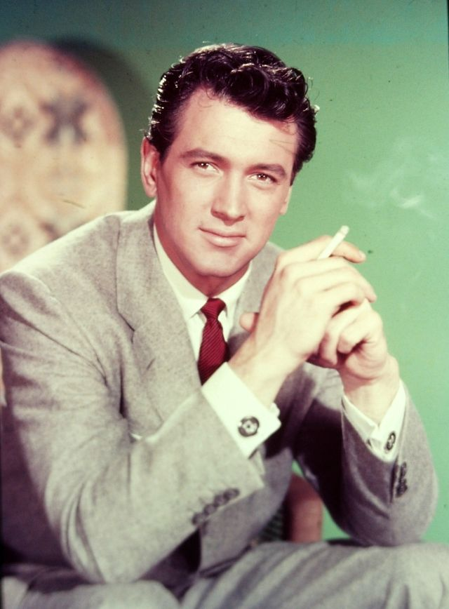 Heartthrob Of The Hollywood Golden Age Color Pictures Of Rock Hudson In The 1950s And 1960s Vintage Everyday