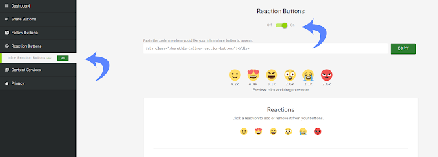 How to Change the ShareThis Reaction Button with Facebook Emoji Animations