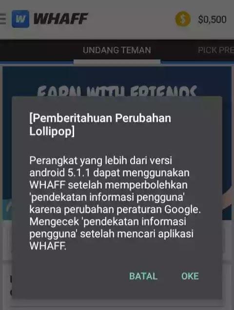 Cara Mendapatkan Dollar dari WHAFF