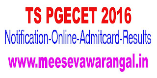 TS PGECET 2017 Notification Online Application Exam Dates Admission Notification AdmitCard Results