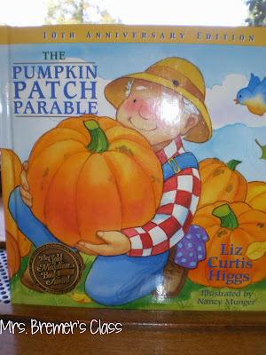 Pumpkin Patch Parable book study companion activities for Kindergarten