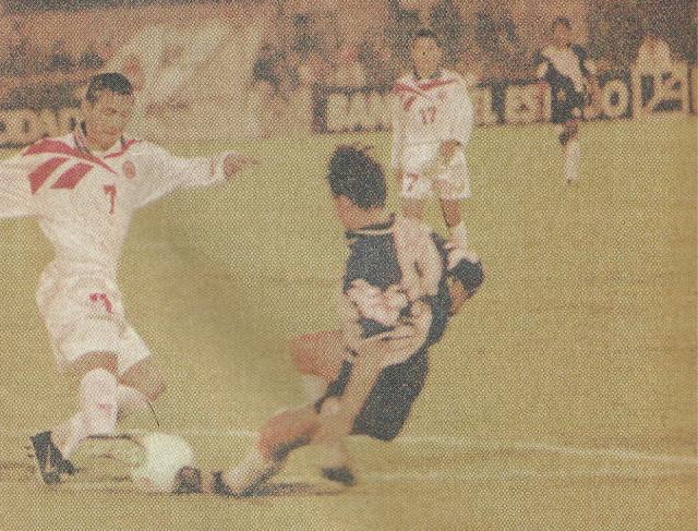 Chile y Guatemala en partido amistoso, 7 de noviembre de 1997
