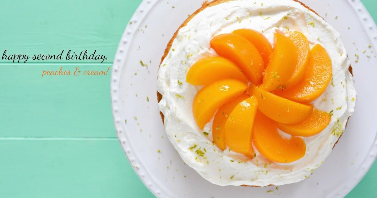 Peaches And Cream Birthday Cake