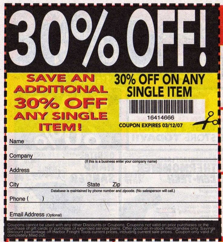 Harbor Freight Coupon 2014