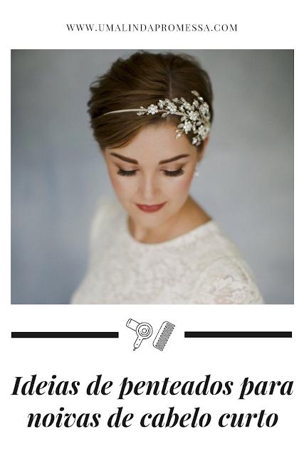 Penteados para noivas de cabelo curto