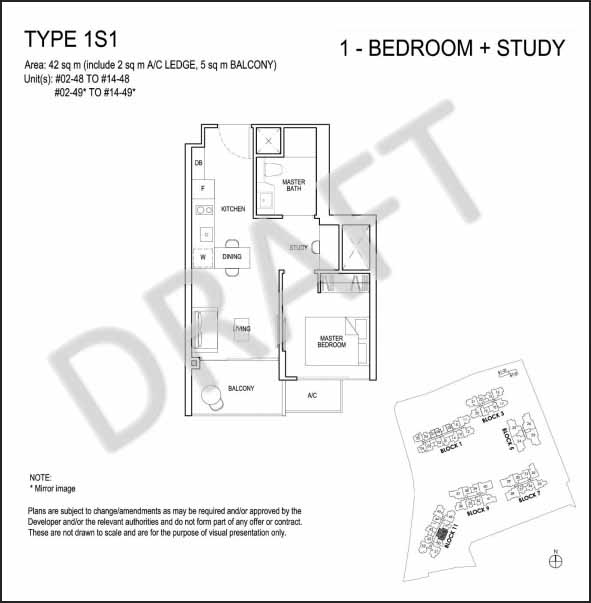 Grandeur Park Residences 1 Bedroom + Study