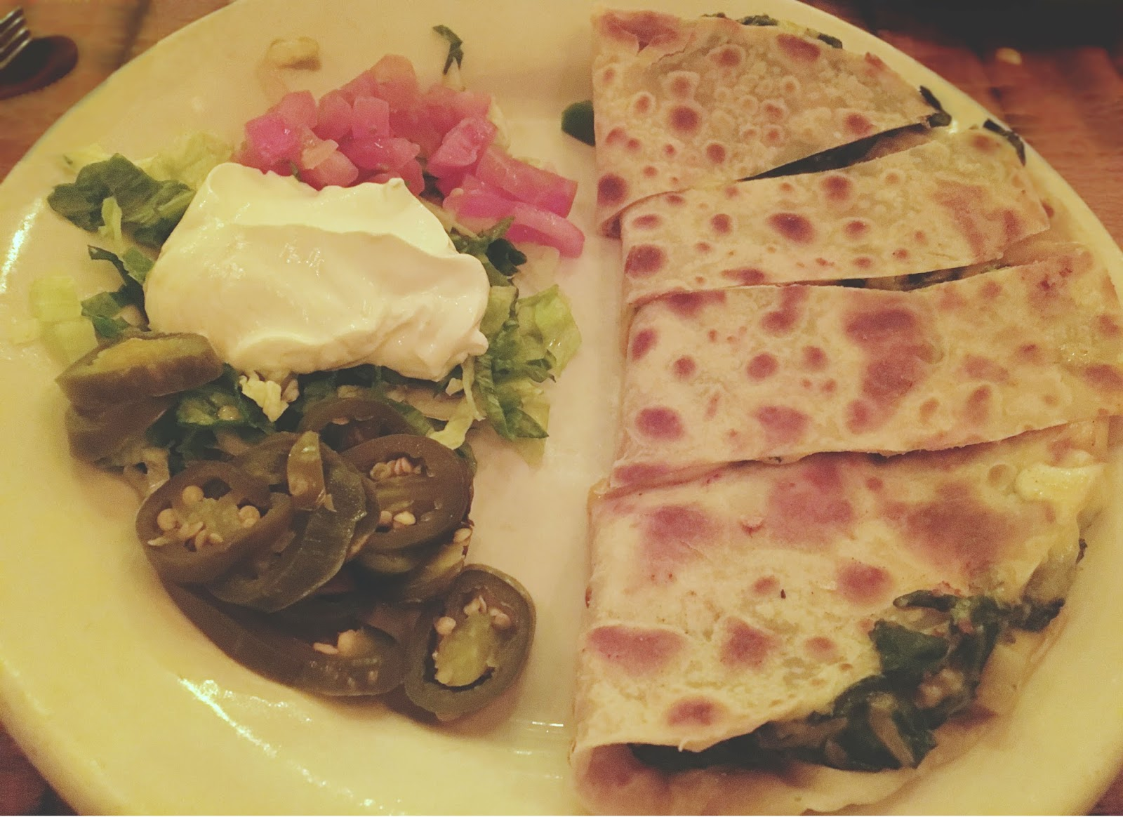 quesadilla at El Tiempo - a Mexican restaurant in Houston, Texas