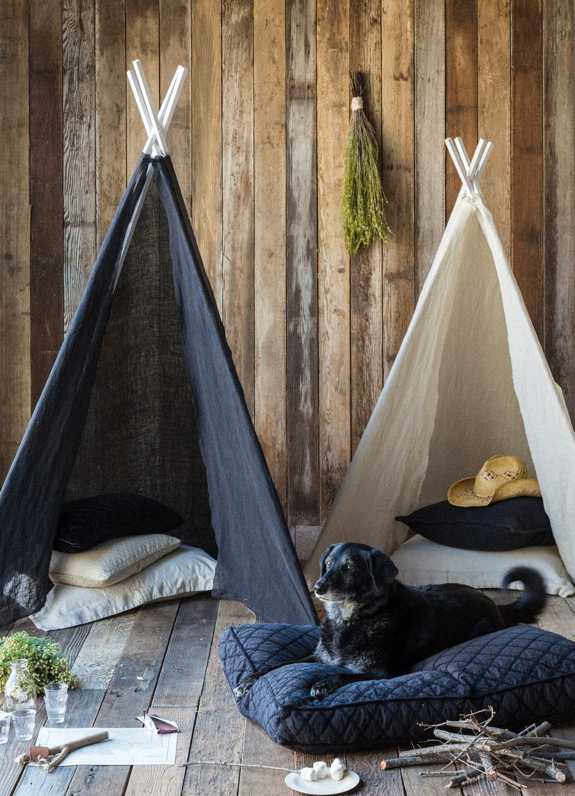 Bella Blog.: TEEPEE'S AND DOG BEDS