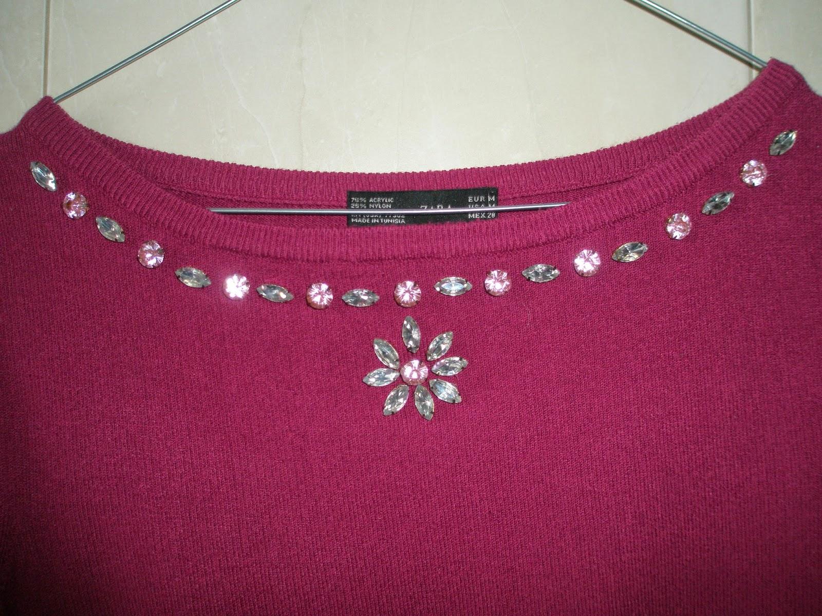 Customizando jersey con cristales