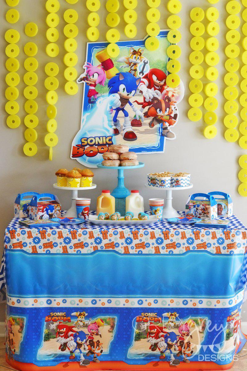 Greygrey Designs My Parties Sonic The Hedgehog Birthday Brunch