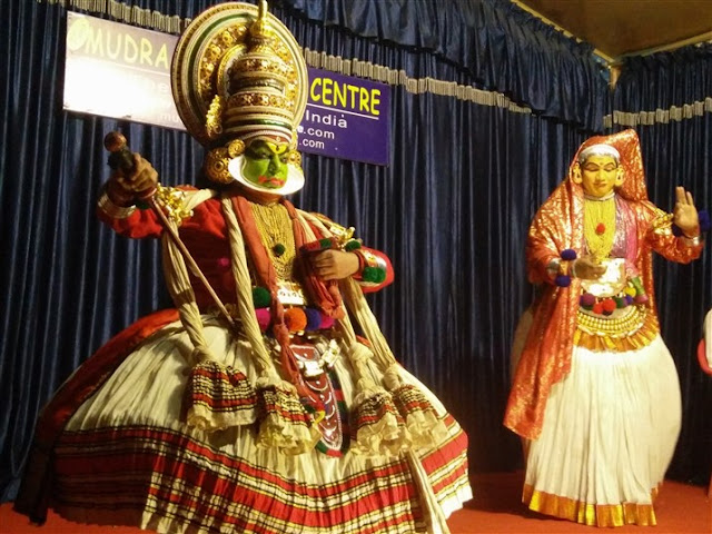 kathakali performance thekkady kerala travel blog