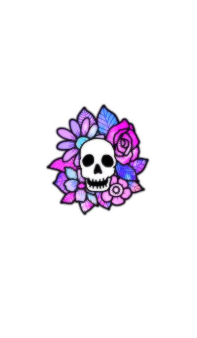 Skull and flower