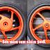 Sơn bánh mâm xe máy màu cam nhám cực đẹp