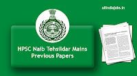 HPSC Naib Tehsildar Mains Previous Papers