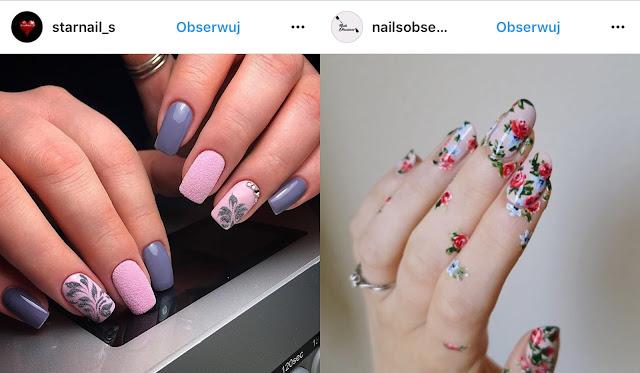 kwiaty na paznokciach