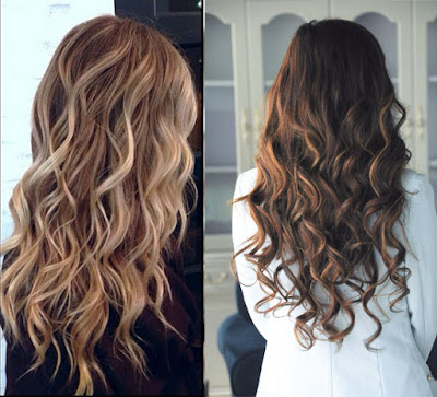 Balayage Highlights curly