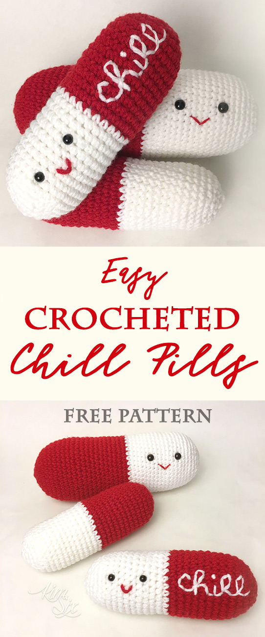 Crocheted Chill Pills Amigurumi Pattern The Kim Six Fix