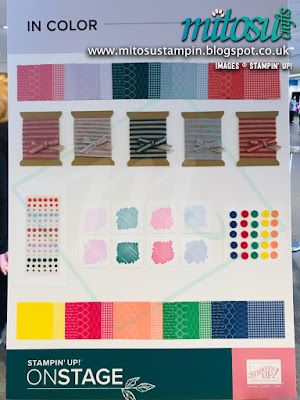 2019-2020 In Color Collection NEW Stampin' Up! Products #onstage2019 Display Board from Mitosu Crafts UK